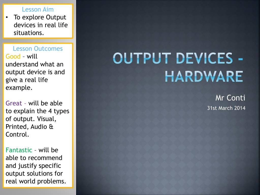 examples of hard copy output devices