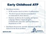early childhood atp1