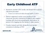 early childhood atp2