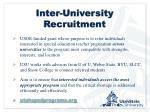 inter university recruitment