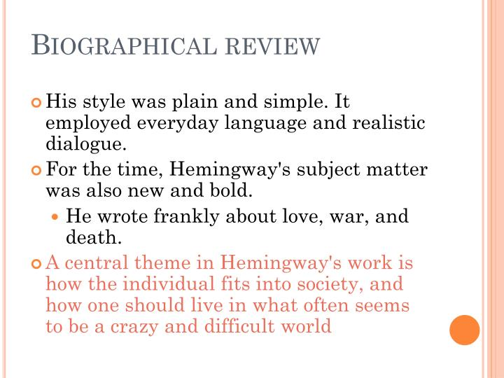 Biographical review