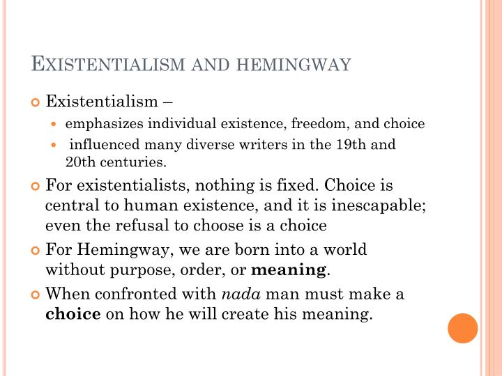 Existentialism and
