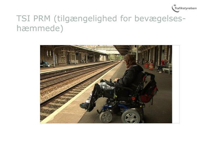 TSI PRM (tilgængelighed for bevægelses-hæmmede)