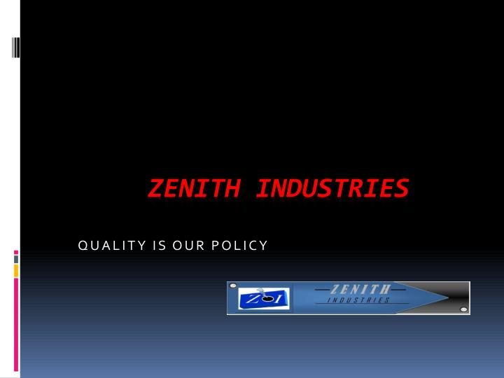 quality is our policy n.