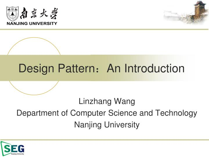 design pattern an introduction n.