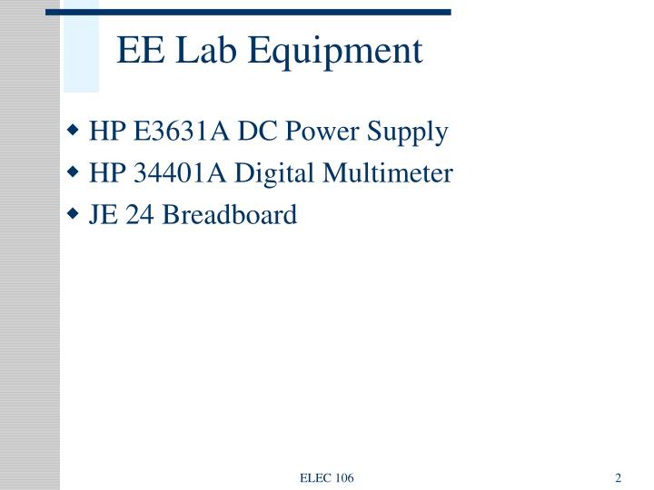 Ee lab equipment