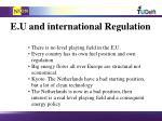 e u and international regulation