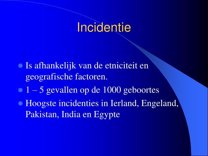 Incidentie