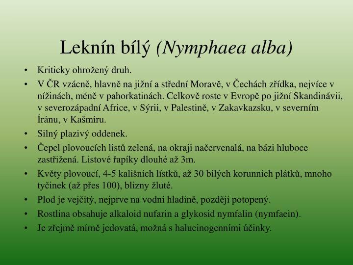 L ekn n b l nymphaea alba