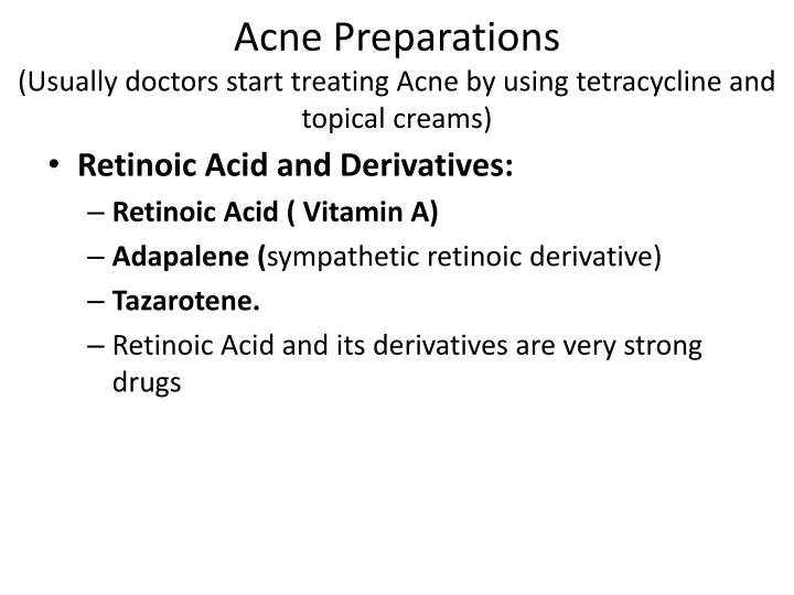 Acne Preparations