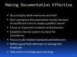 making documentation effective