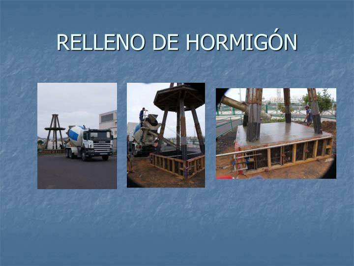RELLENO DE HORMIGÓN