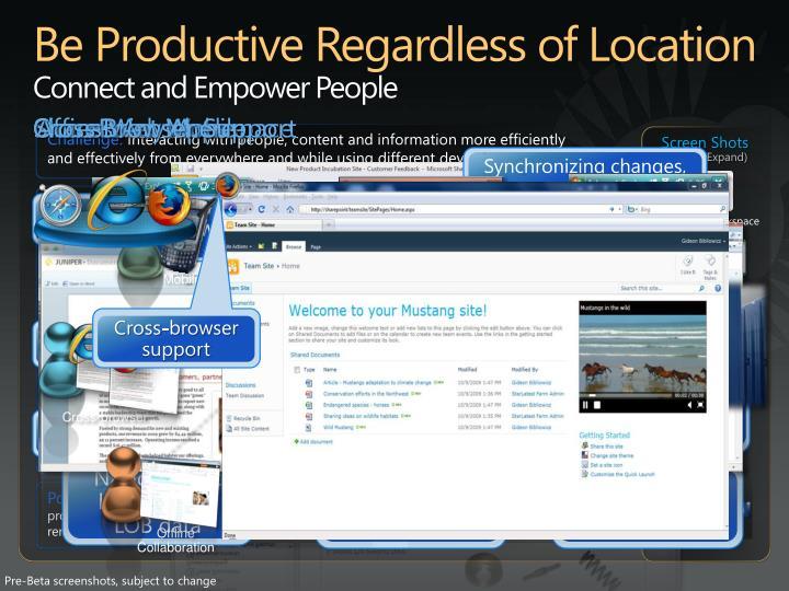 Be Productive Regardless of Location
