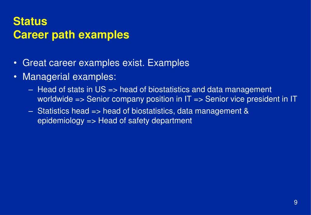 PPT - EFSPI Career paths in biostatistics Hans Ulrich Burger