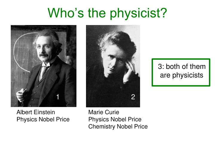 Who s the physicist