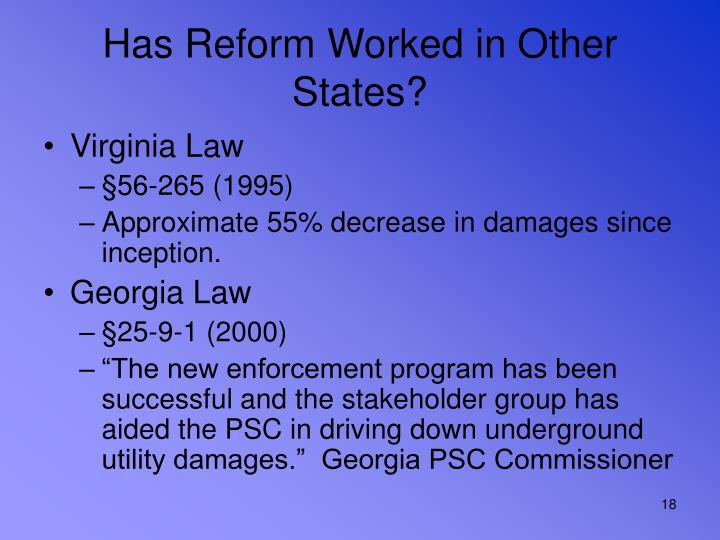 Has Reform Worked in Other States?