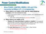 power control modifications