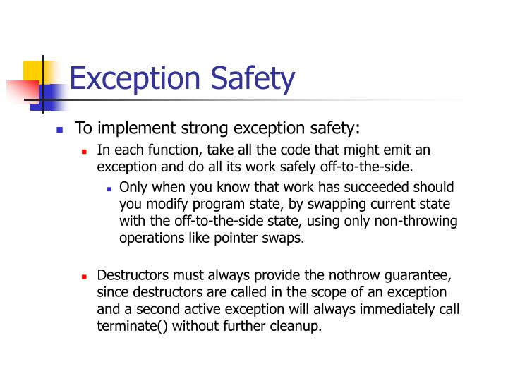 Exception Safety