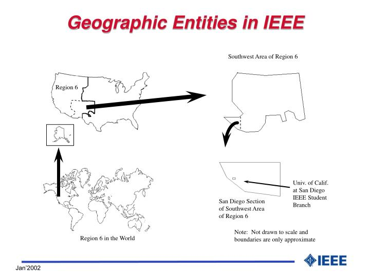 Geographic Entities in IEEE