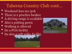 taberna country club cont