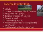 taberna country club