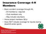 insurance coverage 4 h members