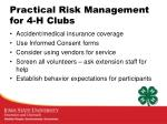 practical risk management for 4 h clubs