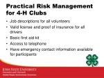 practical risk management for 4 h clubs1