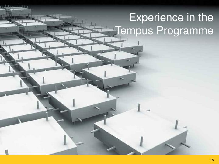 Experience in the Tempus Programme