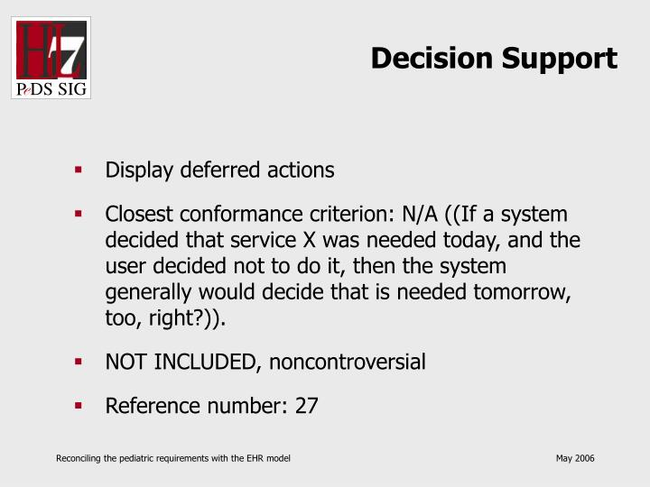 Decision Support