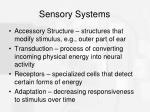 sensory systems1