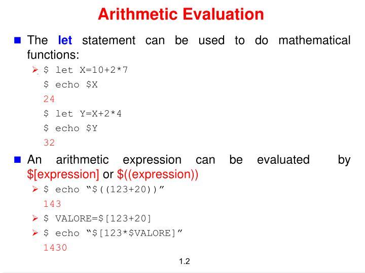 Arithmetic evaluation
