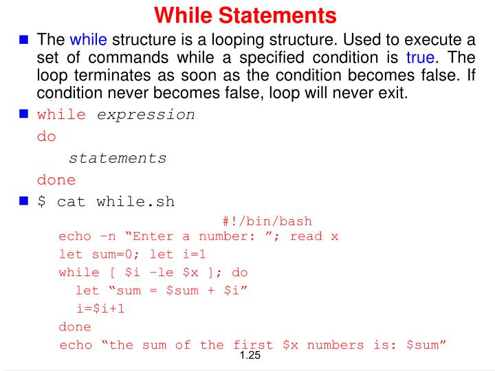 While Statements