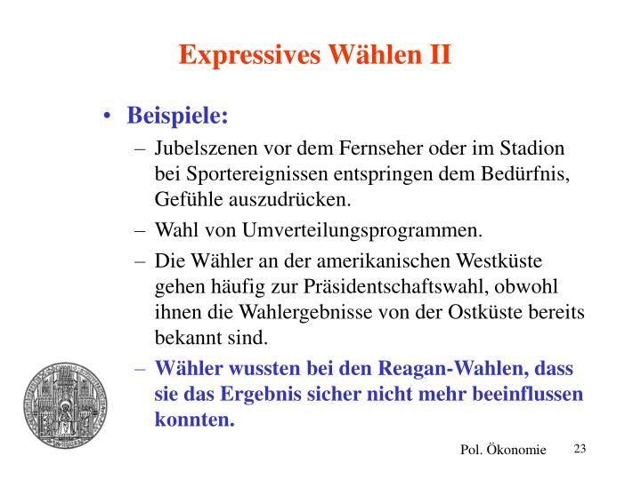 Expressives Wählen II