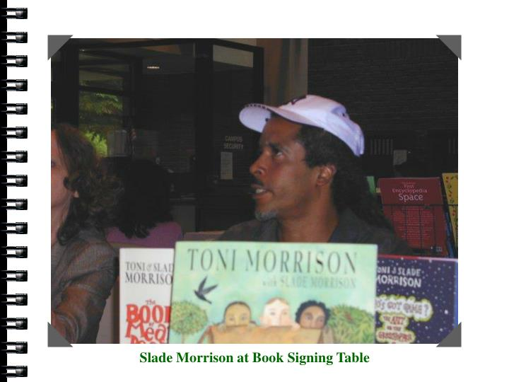 Slade Morrison at Book Signing Table