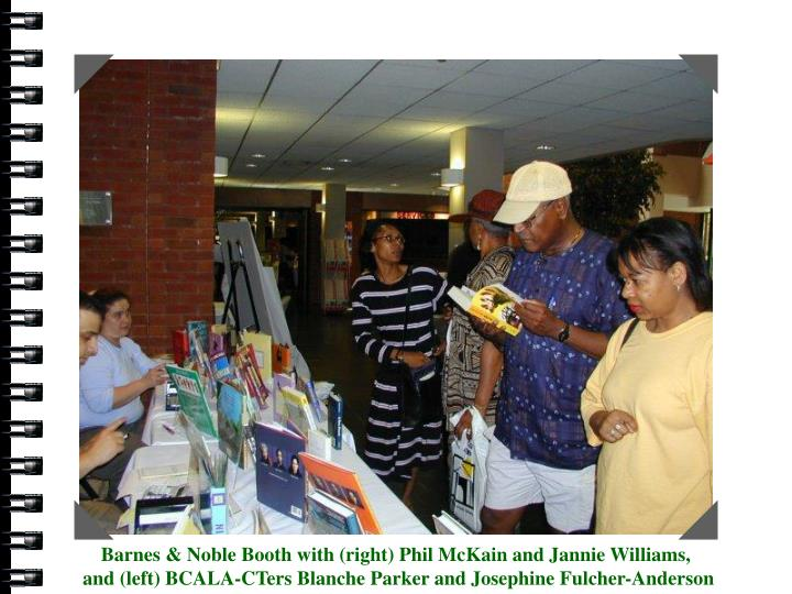 Barnes & Noble with (right) Phil McKain and Jannie Williams and (left) BCALA-CTers Blanche Parker and Josephine Fulcher-Anderson
