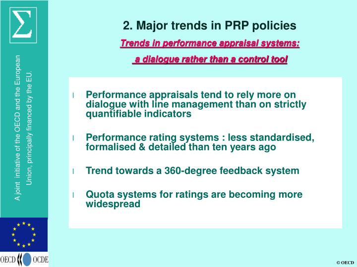 2. Major trends in PRP policies