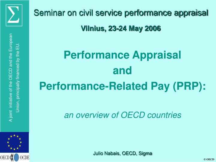 Seminar on civil service performance appraisal