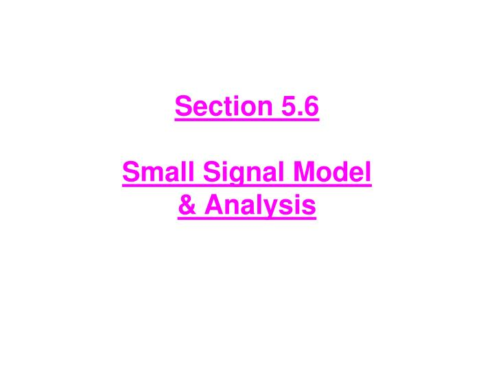 section 5 6 small signal model analysis n.