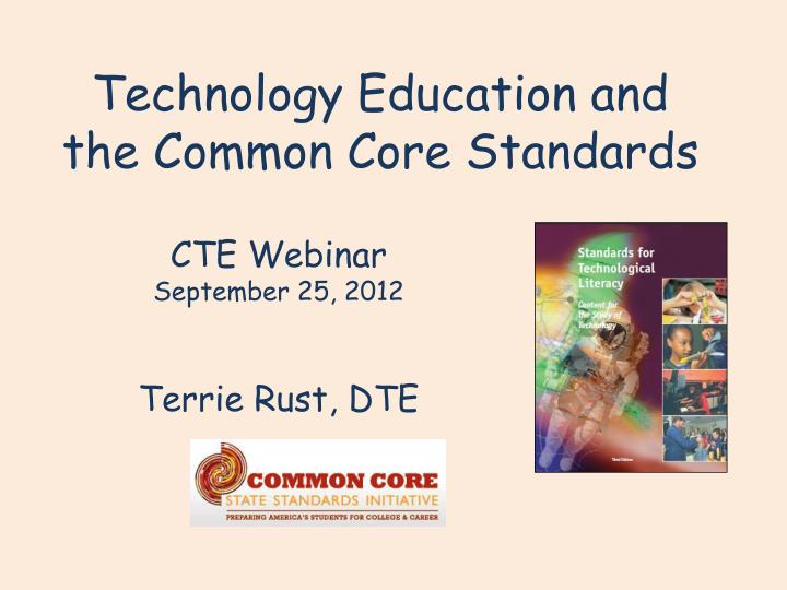 technology education and the common core standards n.