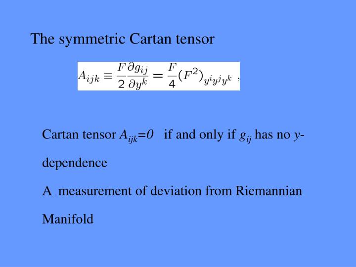 The symmetric Cartan tensor