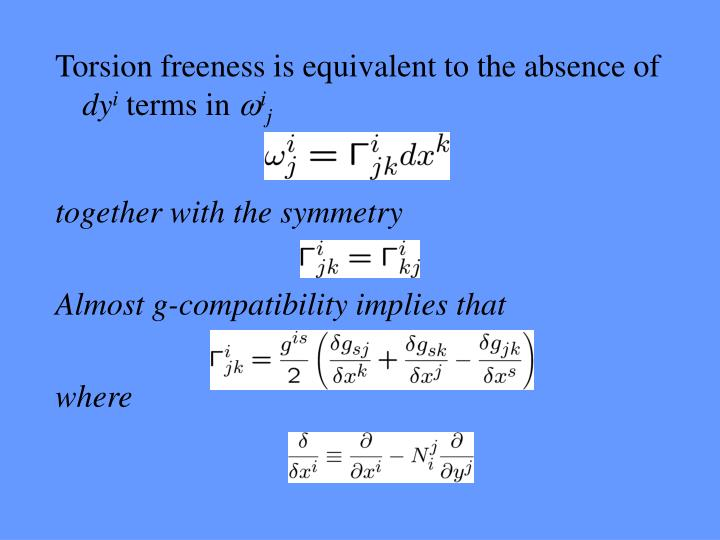 Torsion freeness is equivalent to the absence of