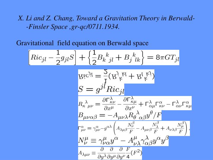Gravitational  field equation on Berwald space