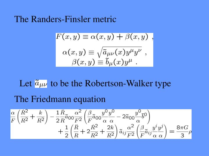 The Randers-Finsler metric