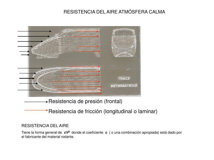 RESISTENCIA DEL AIRE ATMÓSFERA CALMA