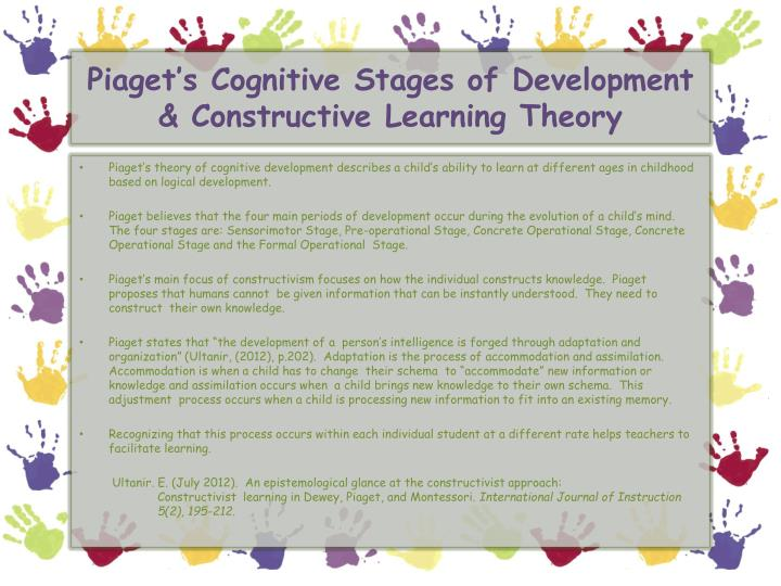 piaget s cognitive theory case study Theories of development  development is the series of age-related changes that happen over the course of a life span several famous psychologists, including sigmund freud, erik erikson, jean piaget, and lawrence kohlberg, describe development as a series of stages.