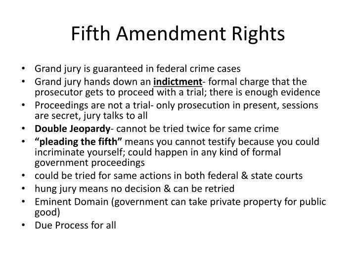 Fifth Amendment Rights