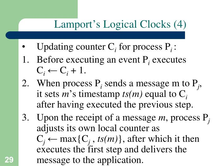Lamport's Logical Clocks (4)