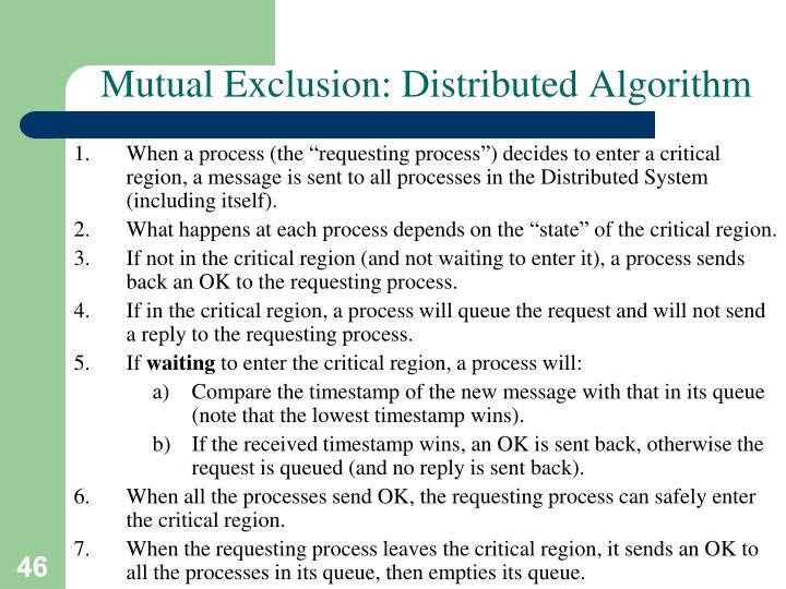 Mutual Exclusion: Distributed Algorithm
