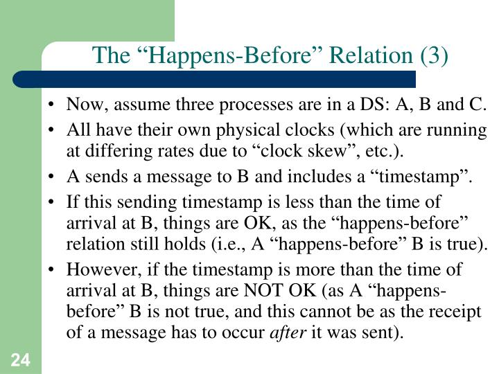 "The ""Happens-Before"" Relation (3)"